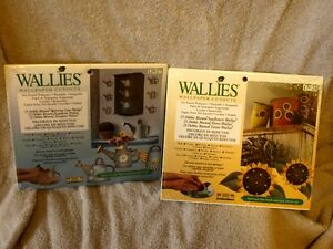 2 sets of Wallies, wall paper cut outs sunflower watering can
