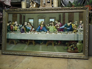 THE LAST SUPPER , GOLD  WOOD FRAME  IMMACULATE . Windsor Region Ontario image 5