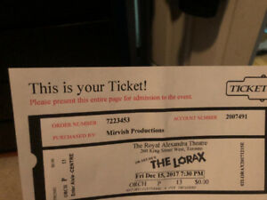 The Lorax theater tickets