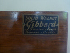 Gibbards solid walnut hutch,buffet and dinning table/chairs