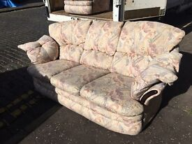 3 pc suite good condition 1 chair is Swivel recliner