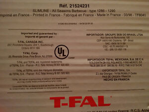 T-Fal Slimline - All Seasons BBQ - Electric grill - Grillade West Island Greater Montréal image 4