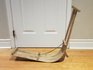 Antique wood snow sled/scooter