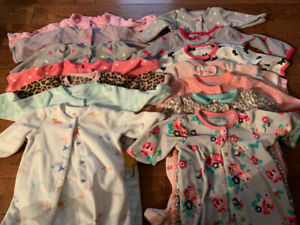 Large baby girl lot 56 items newborn,0-3m and 3m