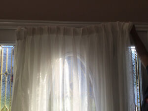 White Pinch Pleated Curtains
