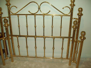 brass bed frame foot/head broad with metal mattress frame