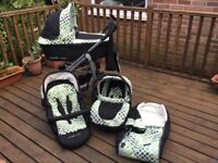 Lux by babystyle 3 in 1 travel system pram, car seat, etc