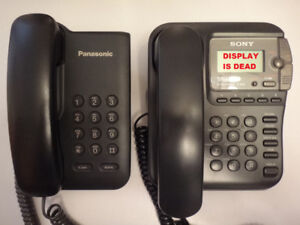 Panasonic KX-TS3C and Sony IT-ID70 Corded Phones