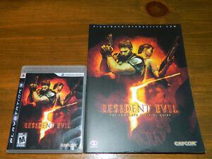 Resident Evil 5 + Guide officiel Jeu PS3