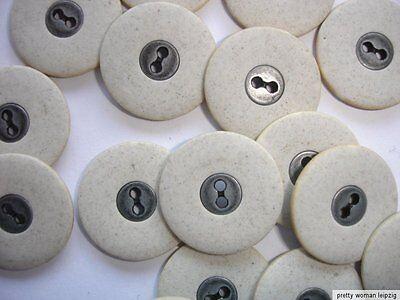10 Knöpfe  Schieferoptik natur 2-Loch 15mm Z47.8 Metalleinleger