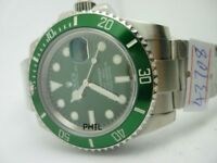 Rolex Submariner Ceramic GREEN N00B v8 with 3135