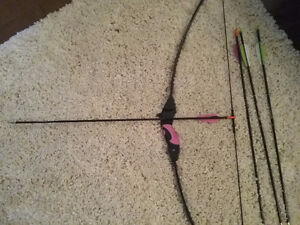 Beginner bow and arrow set in excellent condition
