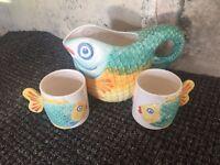 Decorative Jug and Mugs