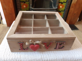 The Range Love Decorated Wooden Craft Box