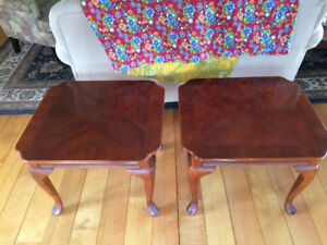 Sofa end tables