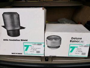 "7"" Selkirk JSC chimney cap and firestop. Brand new"