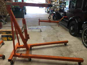 Mechanic Package Deal. Engine hoist, Dolly, Stand, Parts Washer