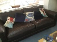 Parker Knoll four seater settee and chair