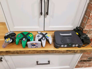 Nintendo 64 + Three Controllers + One Game