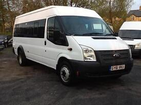 2012 Ford TRANSIT 17 seat minibus 135bhp T430 RWD charity or church bus