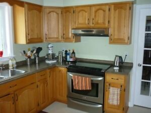 SOLD PENDING PICKUP Oak kitchen cabinets, countertop and sink