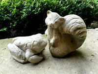 **REDUCED**Large garden Stone Squirrel & Frog