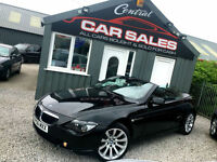 BMW 630I SPORT CABRIOLET AUTO BLACK FINANCE AND PX AVAILABLE HUGE SPEC LEATHER