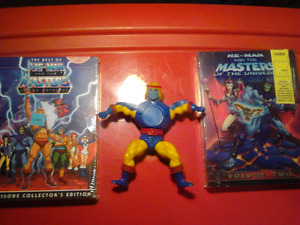 HE-MAN Masters of the Universe Dvd and Toy Retro 1980s and 2002
