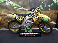 2016 Suzuki RMZ 450 EFI Motocross Bike Only just ran in GOLD WHEELS
