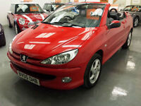 2005 PEUGEOT 206 CONVERTIBLE 1.6cc - 2 FORMER KEEPERS - EXCELLENT CONDITION