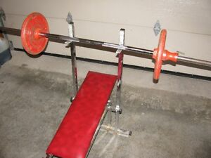 Weight Bench, Bar and 50 lbs London Ontario image 1