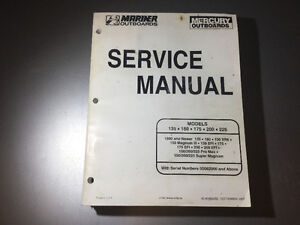 Mercury Mariner 105/140 JET 135-225 HP Outboard Service Manual