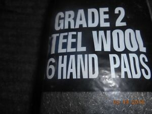 5 pack of 16 hand pads of steel wool