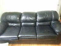 Leather sofa and chair - great condition