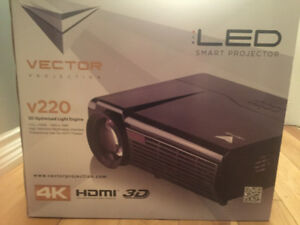 Vector projector V220 and projection screen