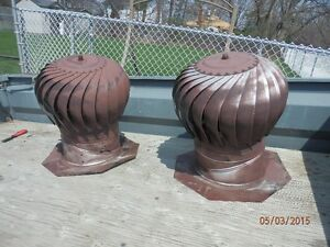 Whirly roof vents