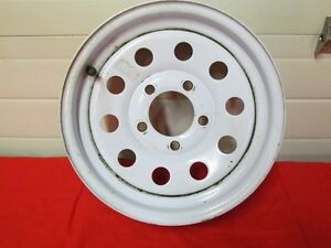 "White Modular Trailer Wheel 13"" X 4-1/2"" with 5 on 4.5""bolt pat."