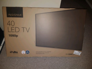 "Brand new, still in box, 40"" LED TV 1080p"