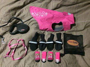 Winter jacket, boots, and accessories for small dog Prince George British Columbia image 1