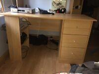 Beach wooden effect desk £12.00