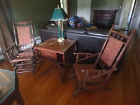 Matching antique rocking chairs