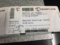 Rewind two weekend tickets with camping