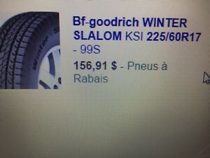 Pneus Bf-goodrich winter slalom 225/60r17
