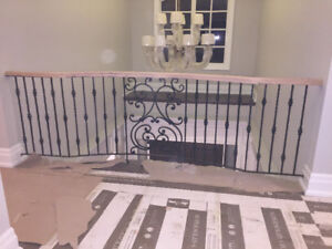 railings stairs picket wrought iron bulaster