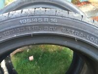 ***** Tyres ***** 3 X 195/45R16 extra load