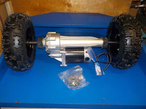 ELECTRIC TRANSAXLE 800 WATT HEAVY DUTY WITH TIRES 24 VOLT CART/W