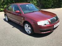 SKODA SUPERB 1.9 PD TDI AUTOMATIC DIESEL RED 4 DOOR SALOON 2004