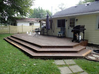 500 Square Foot Deck Stained (Crystal Beach / Fort Erie)