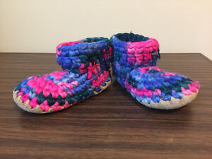 6T knitted boots with leather soles