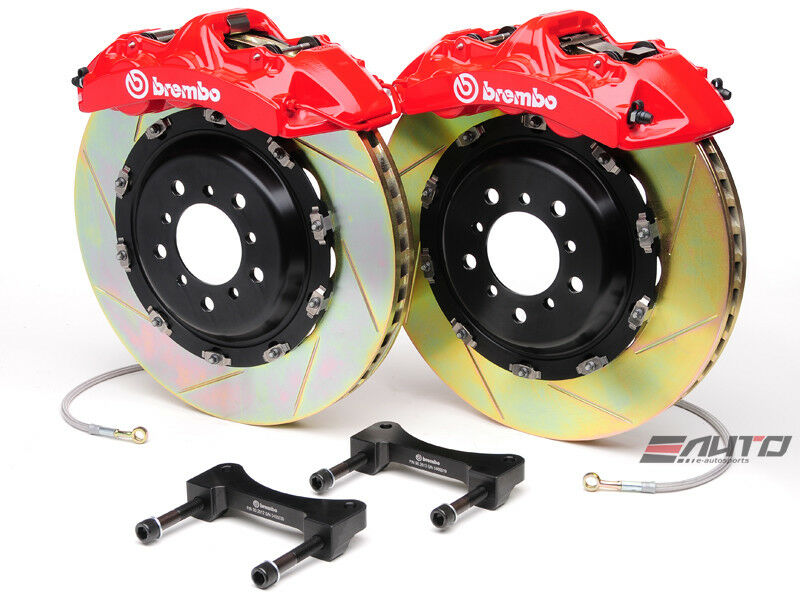 Brembo Front Gt Bbk Big Brake 6p Caliper Red 405x34 Slot Rotor Benz C63 Amg W204